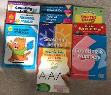 Lot of 7 teacher books K-1 homeschool + Wipe-Off Letters ~ Preschool Closing
