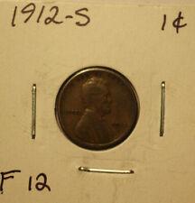 1912-S Lincoln Cent-- Fine