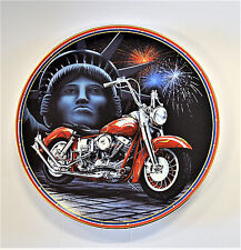 The Hamilton Collection Easy Riders Plate Collection Symbol Of Freedom Ltd Coa
