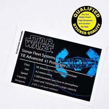 CUSTOM sticker for LEGO 10175 Vader's Tie Advanced Star Wars