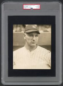1923 Lou Gehrig Rookie Portrait - Possibly Earliest Yankees Photo PSA/DNA Type 1