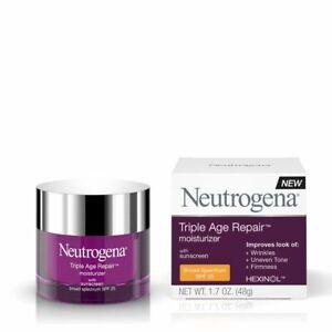 Neutrogena Triple Age Repair Moisturizer, SPF 25,1.7Oz.Exp.09/2017