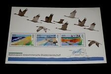 GERMANY, 1996, POMERANIA NATIONAL PARK, SHEET/3, MNH, NICE! LQQK!