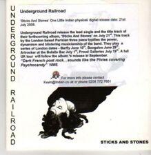 (AC312) Underground Railroad, Sticks & Stones - DJ CD