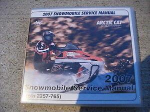 2007 Arctic Cat Snowmobile Service Manual on CD 2257-765