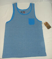 Overdrive Young Mens Tank Top T-Shirt Tee Sleeveless Bluw White Fade NWT