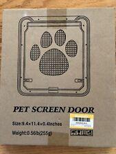 New listing Ownpets Pet Screen Door Magnetic Flap Screen Automatic Lockable Dog Cat Gate