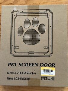 OWNPETS Pet Screen Door Magnetic Flap Screen Automatic Lockable Dog Cat Gate
