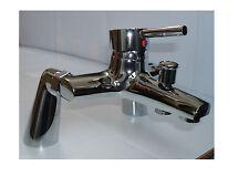 DECK MOUNTED BATH SHOWER MIXER TAPS,  1/4 TURN SINGLE LEVER, BRASS & CHROME, 138