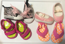Lot Of 4 Baby Girl Shoes, Summer Sparkle, Infant, 4 Pairs, 3-6 Months, Size 2