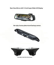 "Echomaster Backup Camera, 7.3"" Rear View Mirror Monitor, (2) Blind Spot Cameras"