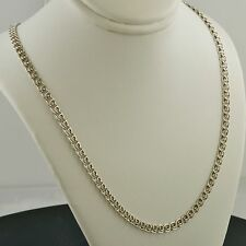 .925 STERLING SILVER 4.0MM WIDE MULTILINK LOVE CHAIN 22 INCH NECKLACE