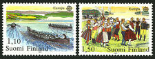 Finland 655-656, MNH. EUROPA CEPT. Rowing to Church, Midsummers Eve dance, 1981