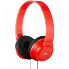 JVC HAS180 Over the Ear Wired Headphones - Red