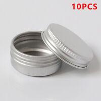 10pcs Cosmetic Empty Jar Pot Cream Lip Balm Bottle Box Container Tin Case
