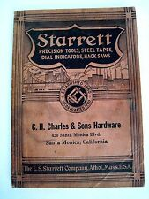 1938 Starrett Precision Tools Catalog Advertising C.H. Charles & Sons Hardware *