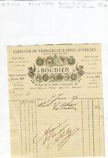 Paris XIX ème 38 Rue de La Butte Chaumont Belle Entête Marquise de Nicholaï 1870
