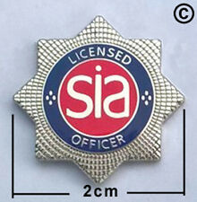 sia security lapel pin badge, close protection, door supervisor, security.