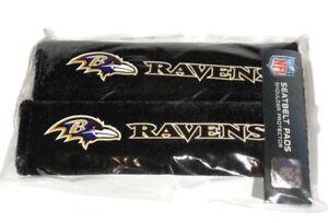 Baltimore Ravens NFL Car Truck Van Auto Seat Belt Pads Shoulder Protector 2Pc