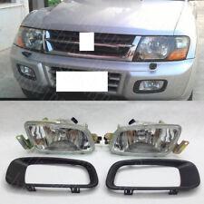 For Mitsubishi Pajero V73 2000-03 Vehicle L&R Front Fog Lamp Light Cover Assembl