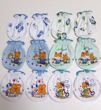 NEW BORN  6 PAIRS 100% COTTON MITTENS  GLOVES GLOVES  Boys BABY 0-6 Months