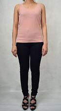 Chanel Pink 100% Cashmere Knit Tank Top Crewneck Sleeveless 40 Womens