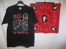 T-shirt MICHAEL JACKSON THRILLER vintage + bandana années 80 M