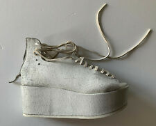 marsell  WHITE painted PLATFORM LACED shoes it36 usa 6 NEW
