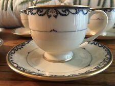 ONE (1) LENOX LIBERTY CUP AND SAUCER DARK BLUE GOLD