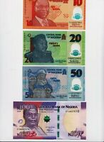 NIGERIA Banknotes Complete set,10 20 50 100 200 500 1000 ( 2018) all UNC