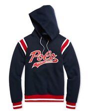 Polo Ralph Lauren Men's Double-Knit Graphic Hoodie  Navy Size:Medium