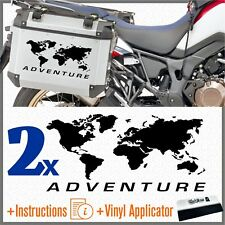 2pcs Adesivi Planisfero ADV Nero BMW Motorrad KTM HONDA SUZUKI KAWASAKI YAMAHA