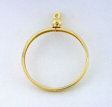 ONE FIFTY CENT HALF DOLLAR GOLD COLOR COIN HOLDER PENDANT MOUNTING FINDING CF929