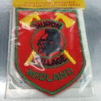 Vintage Midland Huron village Ontario Souvenir Canada  Patch Sew on indigenous