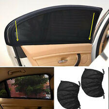 2Pcs Black Mesh Car Side Rear Window Sun Shade Cover Visor Screen Universal Car