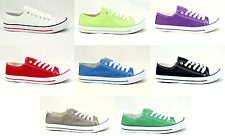 Mens Boys Casual Canvas Lace Up Fashion Pumps Plimsoles Shoes Trainers