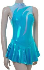 Skating Dress - KINGFISHER SHEEN METALIC  - ALL SIZES AVAILABLE N/S (#97g)