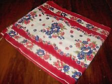 Vintage Cotton Weave Floral Fabric-More Than 9 Yards