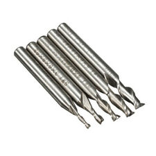 5Pcs Metalworking tools 2/3/4/5/6mm 2 Flute Milling Cutter Hss Cnc Engraving