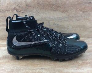 Nike Vapor Untouchable TD Flyknit Football Cleats Black Green Silver