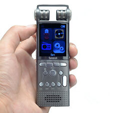 Professional 16GB Digital Voice Activated Recorder PCM REC Noise Cancelling Grey