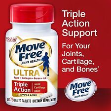 Schiff Move Free Ultra, 75 Tablets NEW Formula. Joint, Bone And Cartilage Health