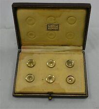 Jolie boite de 6 boutons de col, dans l'écrin d'origine, J.Piault, R. Linzeler.