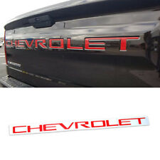 Red Letters Inserts Tailgate Emblem for Chevrolet Silverado HD 2019 2020