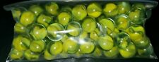 VINTAGE Glass MARBLES 1lb CAT'S EYE SHADES FROM THE Yellow family.