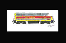 """Erie Lackawanna GP35 11""""x17"""" Matted Print Andy Fletcher signed"""