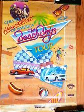 Beach Boys Tour Poster Chevy's Heartbeat of America Chevrolet Music Band 1988