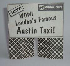 Corgi Toys década de 1960 Tienda Pantalla signo para Londres Taxi, - Excelente condición de menta.