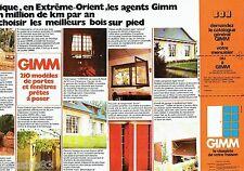 PUBLICITE ADVERTISING 106  1973  Gimm  (2p) portes & fenetres en bois D'Afique