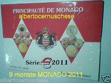 BU MONACO 9 monete 5,88 EURO 2011 2 € matrimonio Alberto Charlene mariage Монако